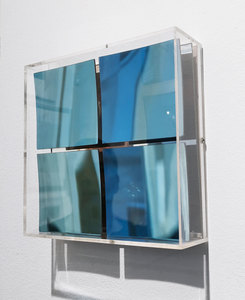 Adolf LUTHER - Escultura -  Spiegel 2x2 blau