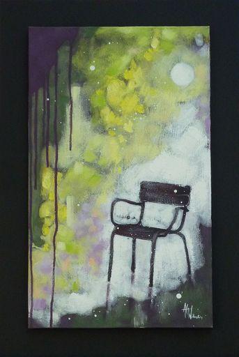 Anne Christine WELLENSTEIN - Peinture - Pluie d'or au jardin