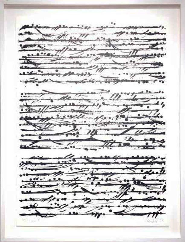 Günther UECKER - Print-Multiple - Optische Partitur Budapest