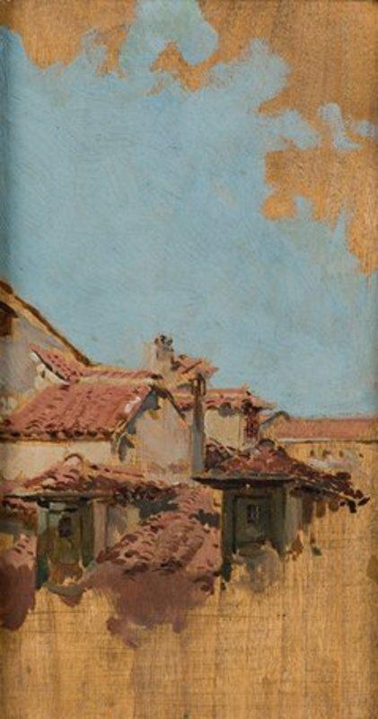 Joaquín SOROLLA Y BASTIDA - Painting - TEJADOS DE MADRID