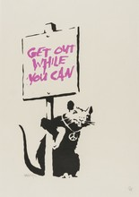 BANKSY - Estampe-Multiple - Get out while you can,