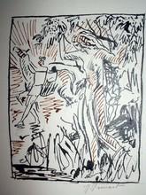 Raphaël DROUART - Dibujo Acuarela - NARCISSE