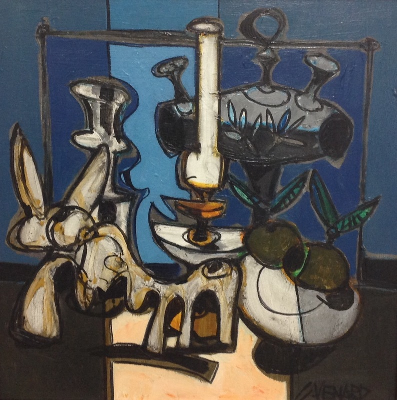 Claude VENARD - Peinture - La lampe