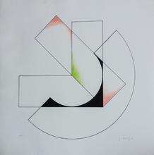 Gottfried HONEGGER - Grabado - Superposition