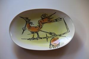 "Wifredo LAM - Céramique - Porcelana di Albisola - 15"" platter"