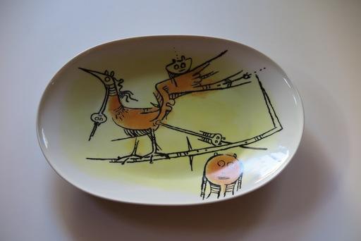 """维夫里多•拉姆 - 陶瓷  - Porcelana di Albisola - 15"""" platter"""