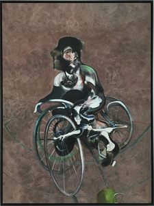 Francis BACON - Grabado - Portrait of Georges Dyer Riding a Bicycle 1966