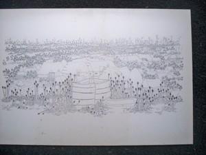Ivan LACKOVIC - Drawing-Watercolor - Village en CROATIE
