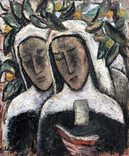 Jean VILLERI - Gemälde - Les deux sœurs