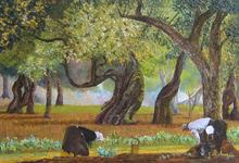 Gyslaine PACHET-MICHENEAU - Painting - H460 La cueillette 20M 1110R