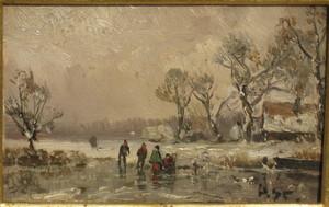 Adolf STADEMANN - Gemälde - Wintervergnügen