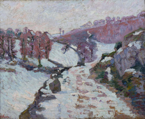 Armand GUILLAUMIN - Painting - Gelée blanche à Crozant