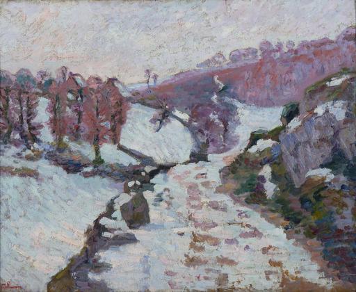 Armand GUILLAUMIN - Pintura - Gelée blanche à Crozant