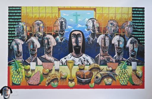 Vladimir CORA - Grabado - La Ultima Asemblea (The last supper)