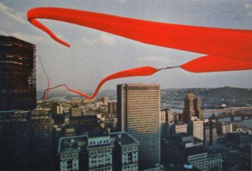 Otto PIENE - Grabado - Red Helium Skyline