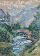 Eugène ALLUAUD - Drawing-Watercolor - Paysage