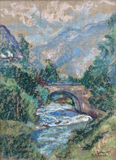 Eugène ALLUAUD - Dessin-Aquarelle - Paysage
