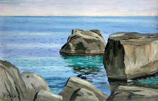 Valeriy NESTEROV - Painting - Crimea. Simeiz. Stones