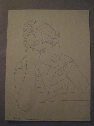 Marianne CLOUZOT - Drawing-Watercolor - JEUNE FILLE PENSIVE