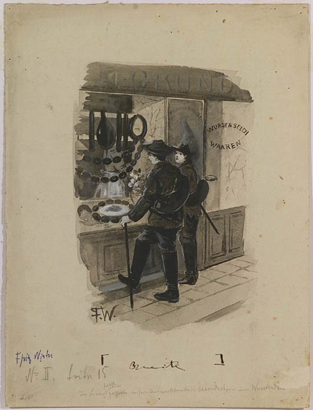 "Fritz WINTER - Dibujo Acuarela - ""Illustration"", ca.1920"