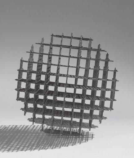 François MORELLET - Sculpture-Volume - Sphère trame