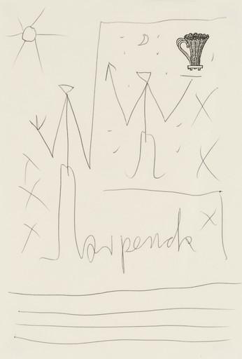 A.R. PENCK - Dibujo Acuarela