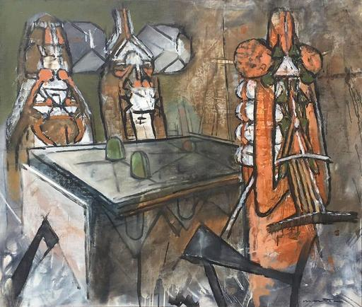 Roberto MATTA - Painting - Untitled [The Reunion]