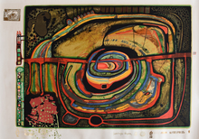Friedensreich HUNDERTWASSER - Estampe-Multiple -  Eyebalance Number Five, from: Rainy Day