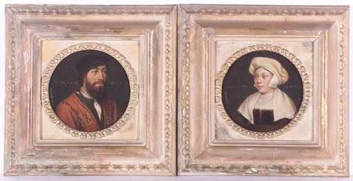 Marie SCHÖFFMANN - Pintura - Two Copies after Holbein, late 19th Century