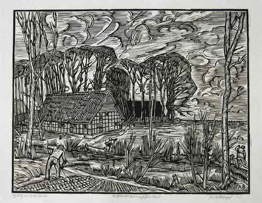 Peter August BÖCKSTIEGEL - Print-Multiple - Westfälisches Bauerngehöft in Arrode