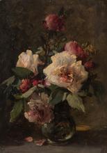 Henri-Théodore FANTIN-LATOUR - Painting - Pivoines dans un vase