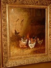 Charles Laurent MARÉCHAL (1801-1887) - Hühner im Stalll / Poules