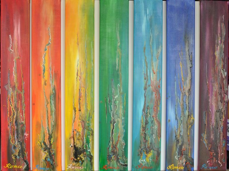 Romeo DOBROTA - Painting - Paradise's colors,