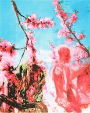 周春芽 - 版画 - Peach blossom (two figures)