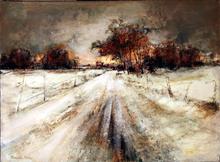 François FRANC (1926) - Soleil couchant en hiver