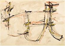 Achille PERILLI - Peinture - Senza titolo 1957