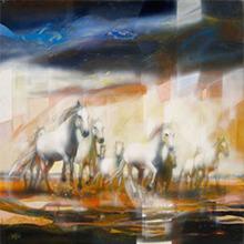 Jean-Baptiste VALADIÉ - Pintura - La Horde Sauvage