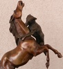Pierre-Jules MÈNE - Sculpture-Volume - Game wolf with horse