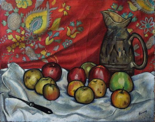René Gontran RANSON - 绘画 - Nature morte à la cruche et aux fruits