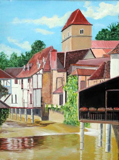 Jean PARRAUD - Painting - Salies de Bearn