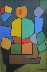 Émile LAHNER - Gemälde - Composition, 1956