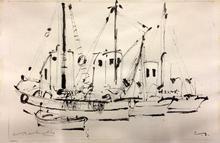 Eugène BABOULENE - Drawing-Watercolor