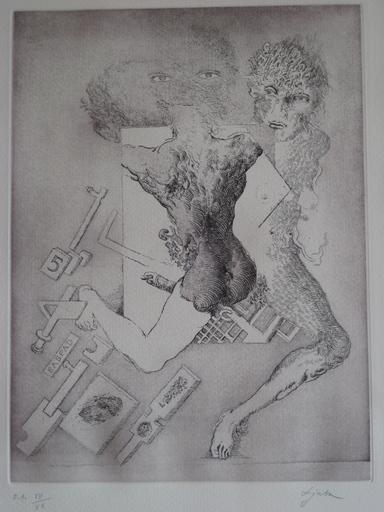 LJUBA - Estampe-Multiple - GRAVURE 1975 SIGNÉE AU CRAYON NUM EA /XX HANDSIGNED ETCHING