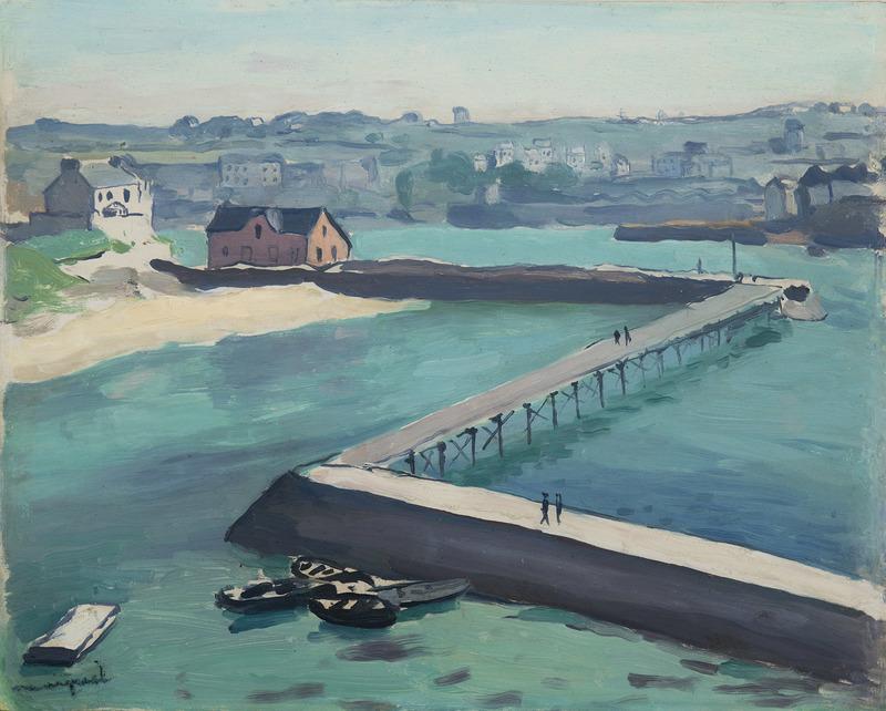 Albert MARQUET - Painting - Audierne, la jetée