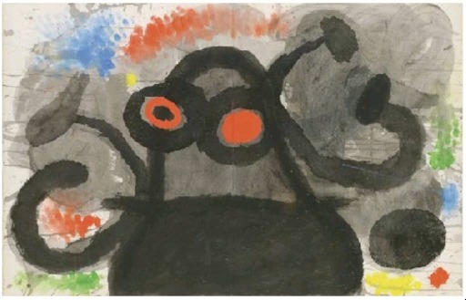 Joan MIRO - Drawing-Watercolor - Sans titre 1972