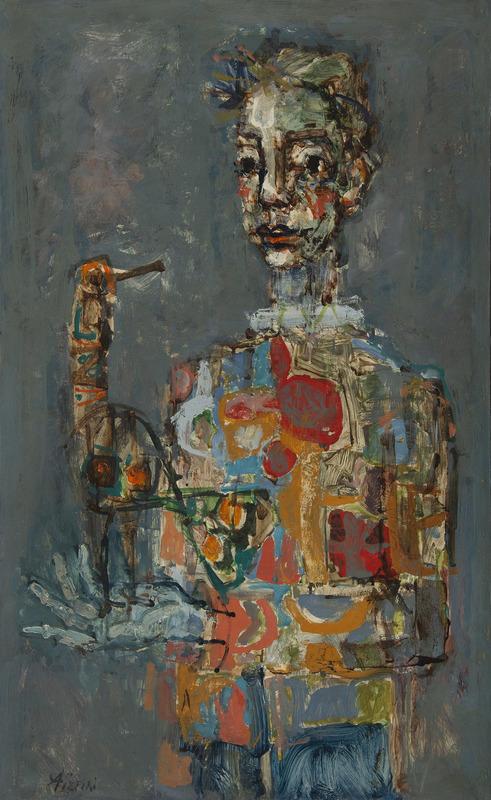 Paul AIZPIRI - Peinture - Le clown