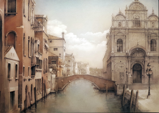 Francesc CONGOST TOR - Pintura - Venècia - Santi Giovanni e Paolo