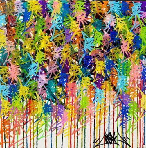 PAPA MESK - Painting - Multi Mesk n•21