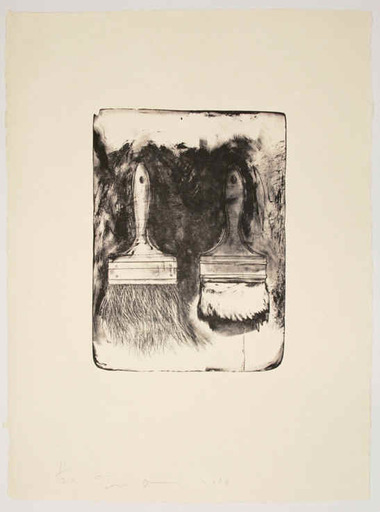 Jim DINE - Print-Multiple - Brush Drawn on Stones #5