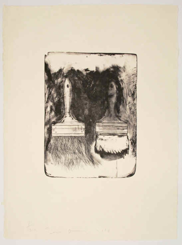 Jim DINE - Stampa-Multiplo - Brush Drawn on Stones #5